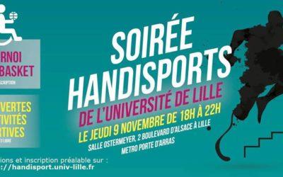 09 nov – Ateliers Yoga à la soirée Handisports de Lille 2